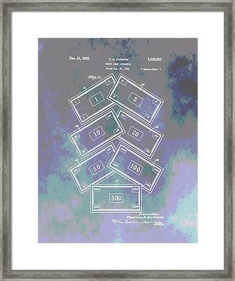 Patent Art Money Framed Print