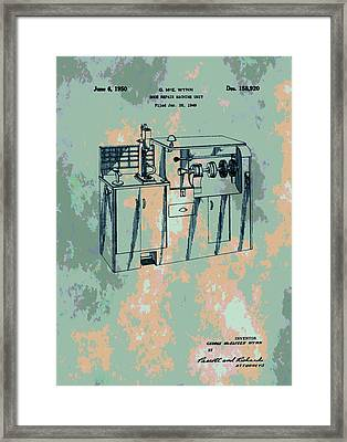 Patent Art Shoe Machine Framed Print