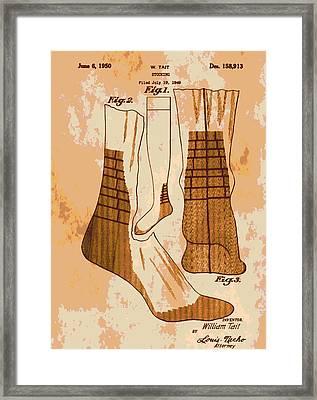 Patent Art Socks Framed Print