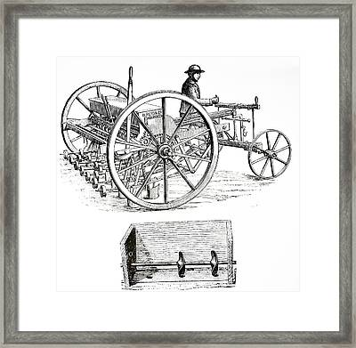 Patent Disc Drill Framed Print by Universal History Archive/uig