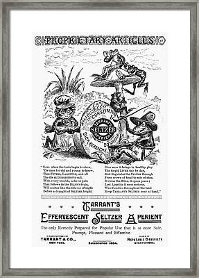 Patent Medicine Ad, 1887 Framed Print by Granger