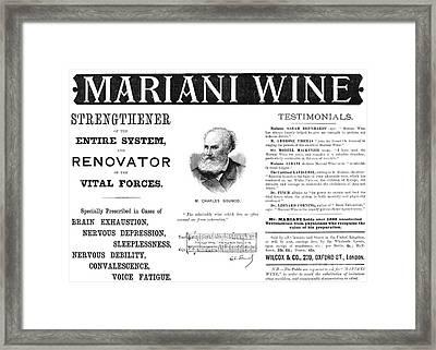 Patent Medicine Ad, 1893 Framed Print by Granger