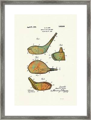 Patented Golf Club Heads 1926 Framed Print by Marlene Watson