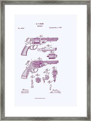 Patented Revolver In Purple Framed Print by Georgia Fowler