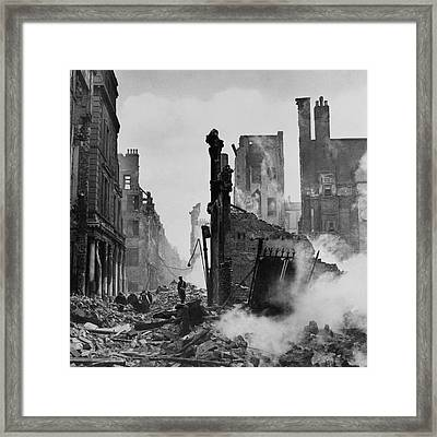Paternoster Row After Bombing Framed Print by Cecil Beaton