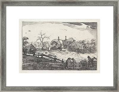 Paters Inn Near A Country Road, View Near Haarlem Framed Print by Artokoloro