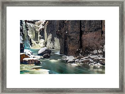 Paterson Falls Frozen Fantasy Framed Print by Jim DeLillo
