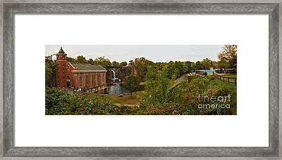 Paterson Great Falls National Historic Site Panorama Framed Print by Adam Jewell