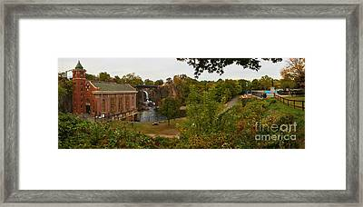 Paterson Great Falls Panoramic View Framed Print by Adam Jewell
