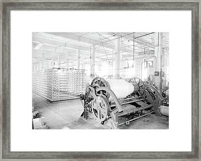 Paterson, New Jersey - Textiles. Another View Of Large Framed Print by Litz Collection