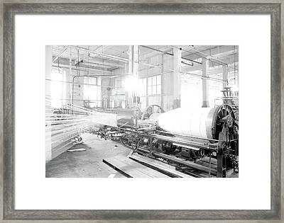 Paterson, New Jersey - Textiles. Large Textile Machine Framed Print by Litz Collection