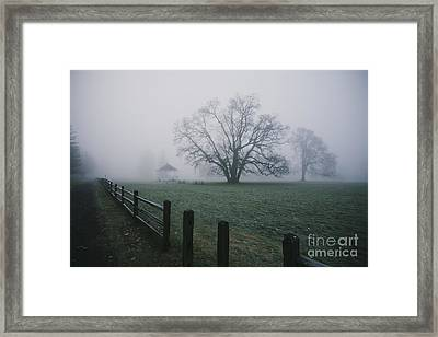 Path Along Park   Framed Print by Rich Collins