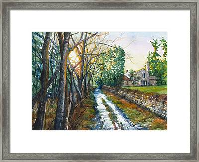 Path By Pennypack Creek Framed Print