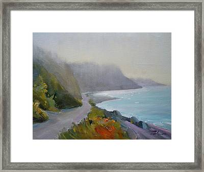 Path - Dallas Road Beach Framed Print by Ron Wilson