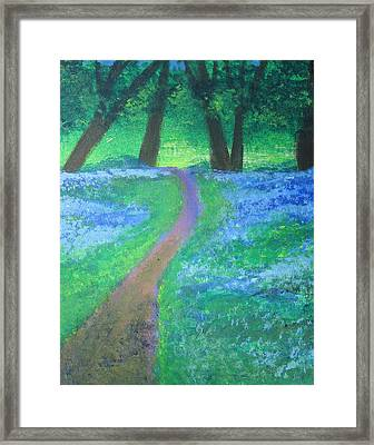 Path In Woods Framed Print by Diana Riukas