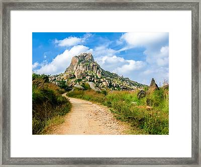 Path Into The Hills Framed Print