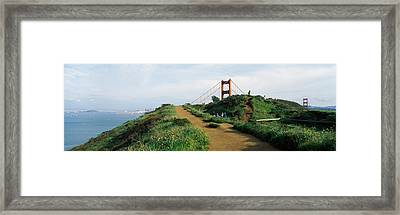 Path Leading Towards A Suspension Framed Print by Panoramic Images
