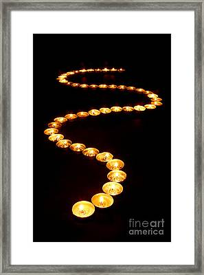 Path Of Light Framed Print by Olivier Le Queinec