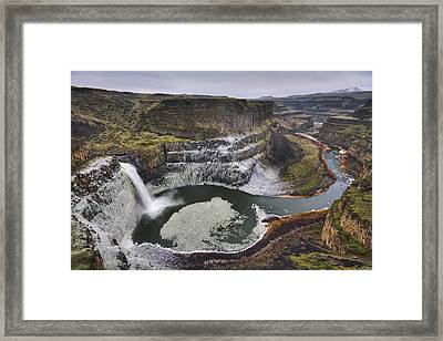 Path Of The Palouse In Winter Framed Print by Mark Kiver