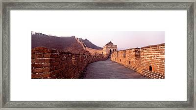 Path On A Fortified Wall, Great Wall Of Framed Print
