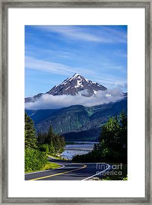 Path Through Alaska Framed Print