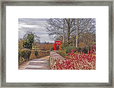 Path Through The Cotswolds Framed Print