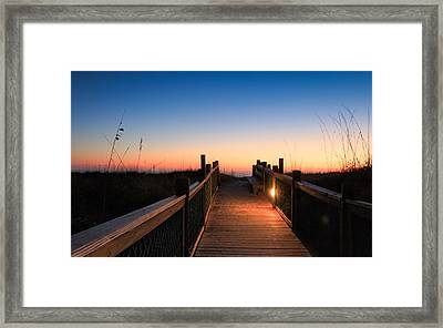 Path To A New Day Framed Print