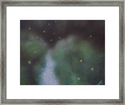 Path To Asters And Fireflies Framed Print