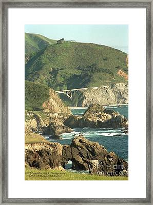 Path To Bixby Bridge Framed Print by DJ Laughlin