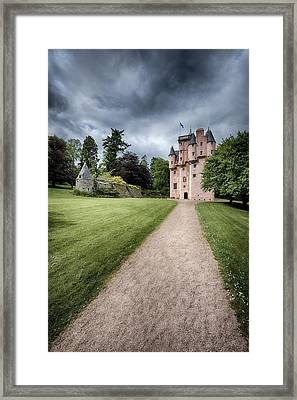 Path To Craigievar Castle Framed Print by Dave Bowman