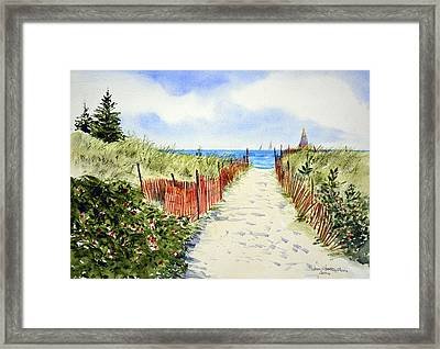 Path To East Beach-watch Hill Ri Framed Print