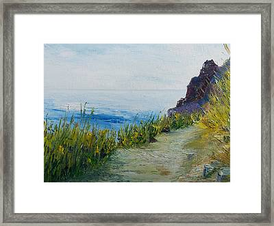 Path To Lovers Cove Framed Print