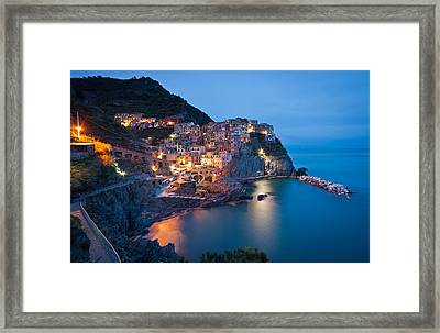 Path To Manarola Framed Print