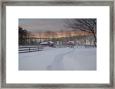 Path To The Barn Framed Print by Fran J Scott