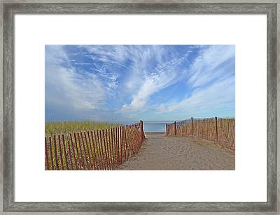 Path To The Beach Framed Print by Marjorie Tietjen