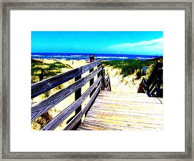 Path To The Beach Framed Print by Scott Hamilton