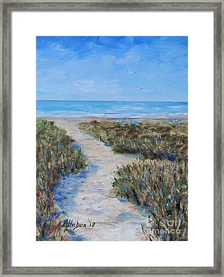 Path To The Beach Framed Print