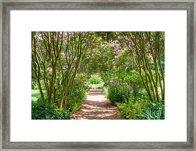 Path To The Garden Framed Print by Robert Hebert
