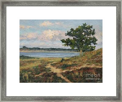 Path To The Harbor Framed Print by Gregory Arnett