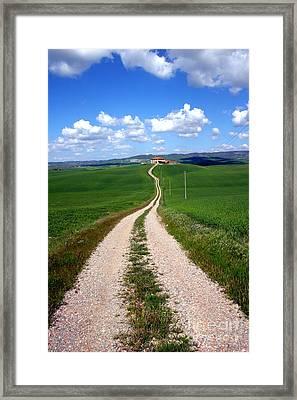 Path To The Horizon Framed Print by Arie Arik Chen