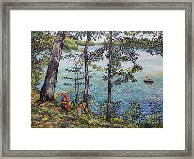 Path To The Lake Framed Print