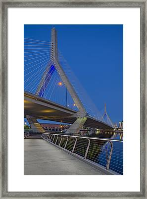 Path To The Leonard P. Zakim Bridge Framed Print by Susan Candelario