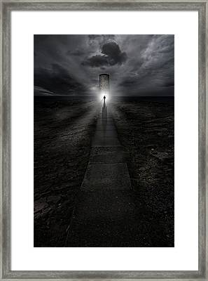 Path To The Lightouse Framed Print