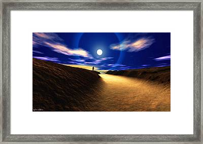 Path To The Moon Framed Print