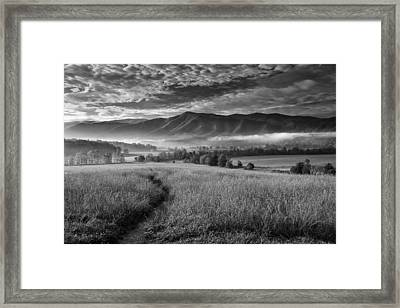 Path To The Mountains Framed Print by Andrew Soundarajan