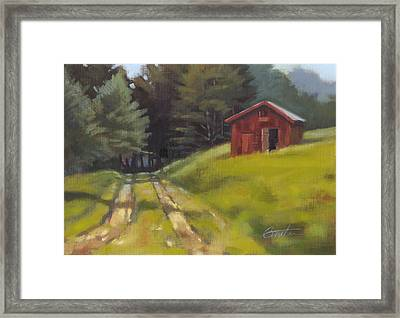 Path To The River Framed Print