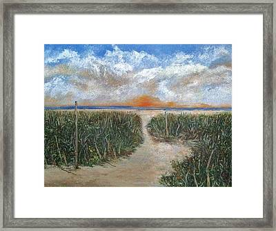 Path To The Sound  Framed Print