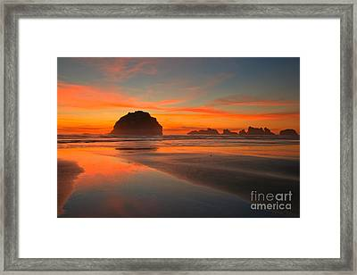 Path To The Sun Framed Print by Adam Jewell
