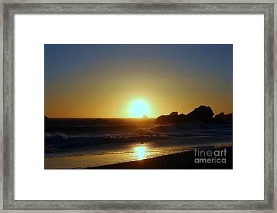 Path To The Sun Framed Print by Irina Hays