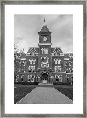 Path To University Hall Black And White  Framed Print